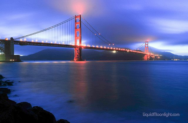 Bridges - San Francisco - Golden Gate Bridge - Torche Effect