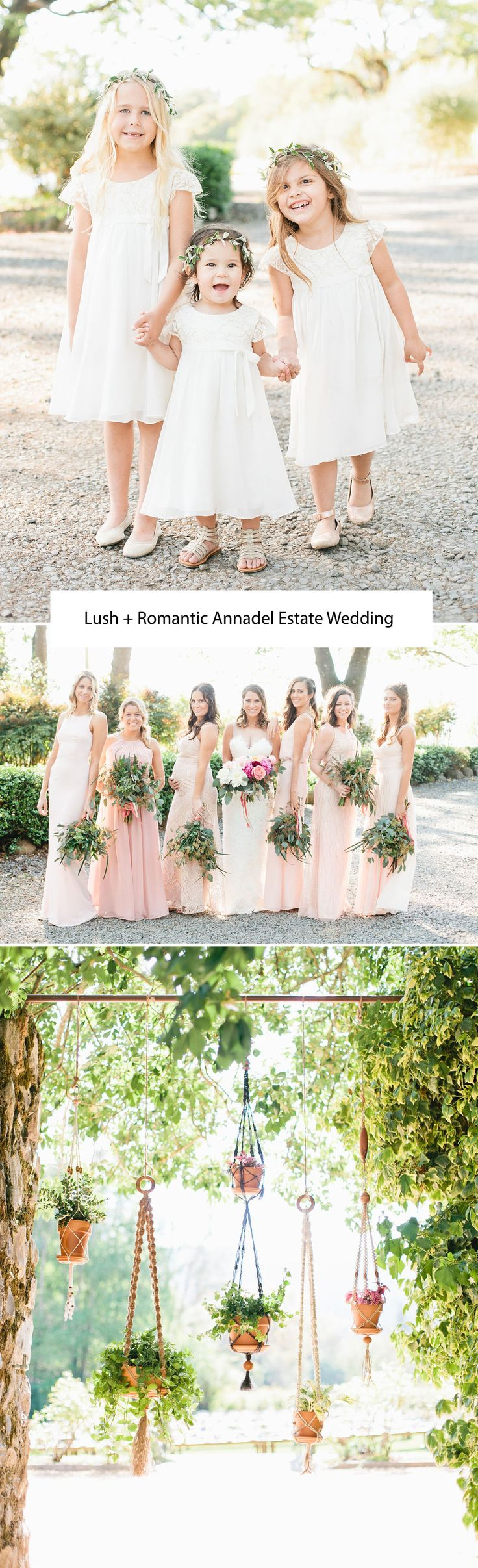 69 best wedding i bridesmaids images on pinterest bridesmaids lush romantic annadel estate wedding arent these flower girls the cutest ombrellifo Image collections