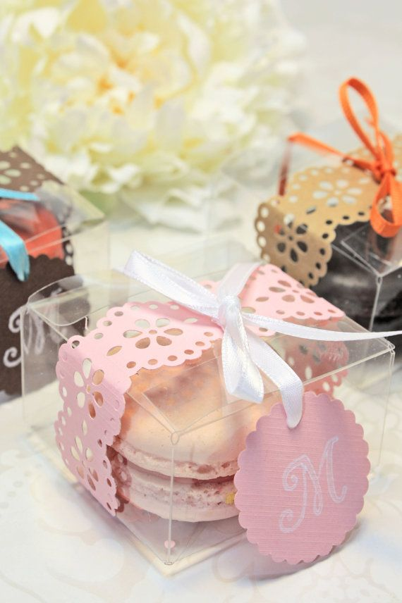 Shower Favors French Macaron Favor Boxes by IndayaniBakedGoods, $142.50