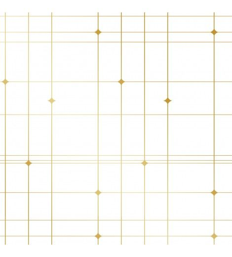 A simple plaid design of thin lines and small dots to bring visual interest to the wallpaper is a perfect choice for your mid century modern home.