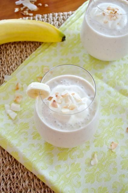 Banana Coconut Cream Smoothie ... YUM!