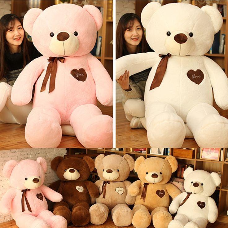 18.62$  Buy here - http://alibaa.shopchina.info/1/go.php?t=32682599206 - Cute 80cm Large Teddy Bear Plush Doll Stuffed Soft Toy Cute Huge White Bear Wear Bowknot Kids Toys Birthday Gift for Girl&Child  #aliexpressideas