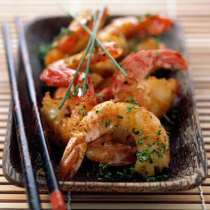 Voir la recette des crevettes marinées sautées à l'asiatique