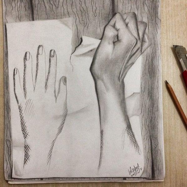 Einige Künstler schaffen nur mit einem Bleistift erstaunliche 3D-Kunstwerke bei denen es schwierig ist, die Grenze zwischen Fiktion und Realität zu ziehen. Wir haben 22 dieser beeindruckenden Beispiele für euch gesammelt und in diesem Artikel zuammengestellt.