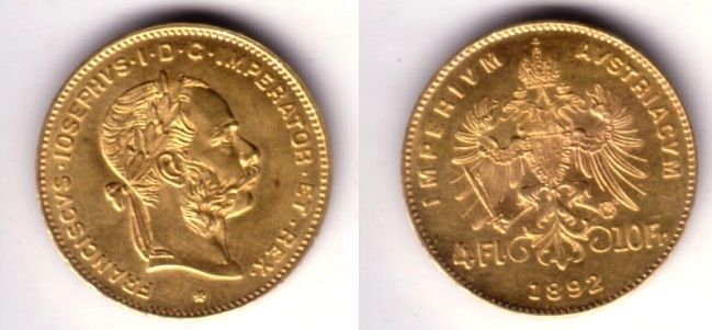 "#New post #Austria 4 Florins-10 Francs, GOLD 1892 EMPEROR FRANZ JOSEPH--A GEM BU BEAUTY  http://i.ebayimg.com/images/g/wskAAOSwCU1YoBVY/s-l1600.jpg      Item specifics   Seller Notes: ""As the picture shows an absolute GEM blazer! Austria 4 Florins-10 Francs, GOLD 1892 EMPEROR FRANZ JOSEPH–A GEM BU BEAUTY.  We care about the quality of the merchandise you receive.     NO RANDOM OR VARIED DATES.   It is 19mm in diameter and weighs... https://www.shopnet.one/austria-"