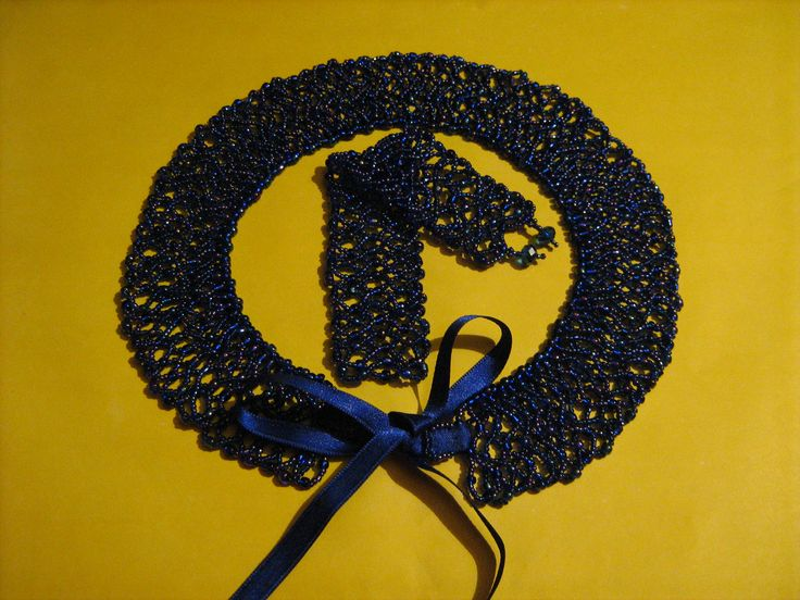 Blue Collar and it's matching bracelet. Ignore, the background color.