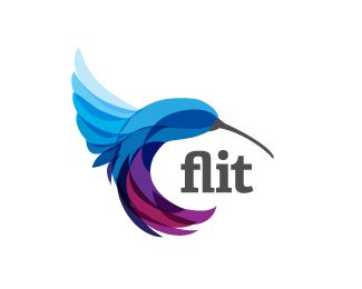 """""""Flit"""" Logo. I love the color and the simple shape. Hope I have the sense to create such this."""
