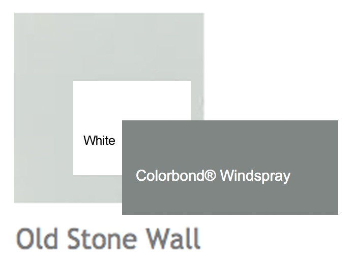 Render - Porters Old Stone Wall   Windows & Trim - White   Roof - Windspray