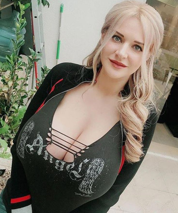 Big boobs blonde anya