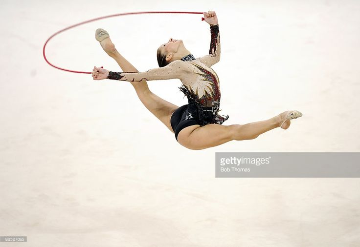 Simona Peycheva of Bulgaria competes in the Individual All-Around final held at the University of Science and Technology Beijing Gymnasium on Day 15 of the Beijing 2008 Olympic Games on August 23, 2008 in Beijing, China.
