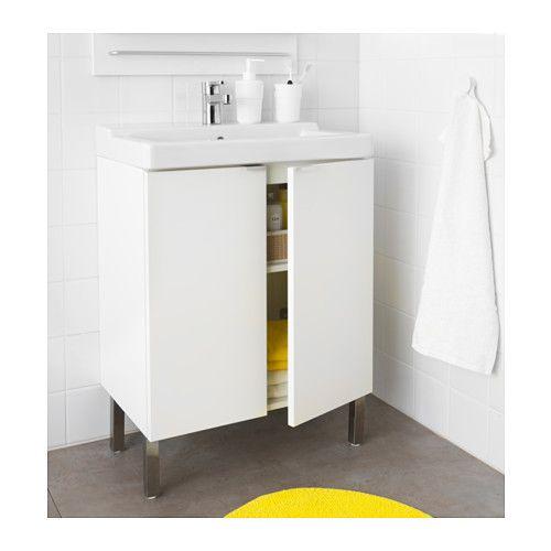 Downstairs bathroom LILLÅNGEN / TÄLLEVIKEN Sink cabinet with 2 doors, white white 23 5/8x16 1/8x34 1/4