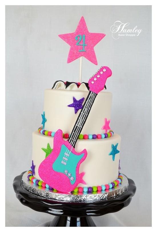 Bolo Rock and Roll para meninas #LittleRock