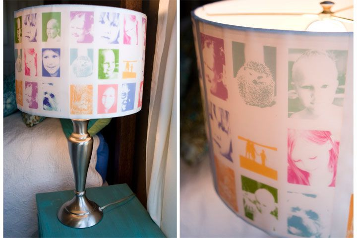 DIY photo lampshades: Photo Collage, Lamps Shades, Photo Lampshades, Diy'S Lampshades, Diy Lampshade, Art Photography, Diy'S Photo, Crafts Idea, Kids Rooms