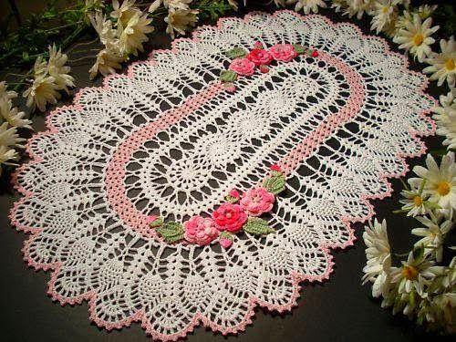 crochet oval doilies 05 doilies doilly crochet doilies mandalas ...