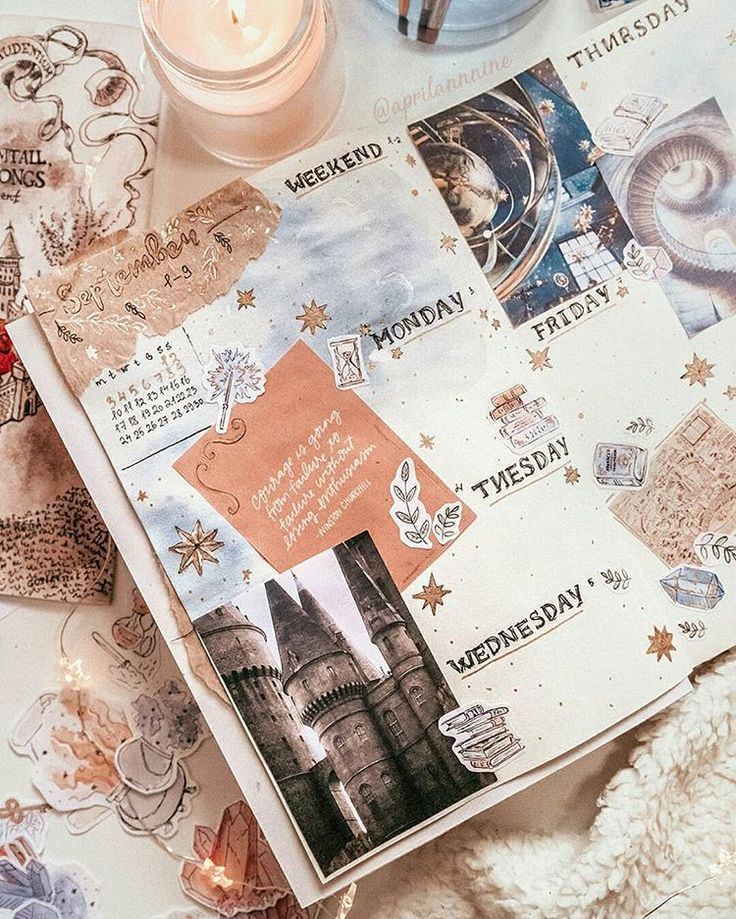 This next weekly layout is still in style of Harry Potter's world as I promi… – Jo Whisks