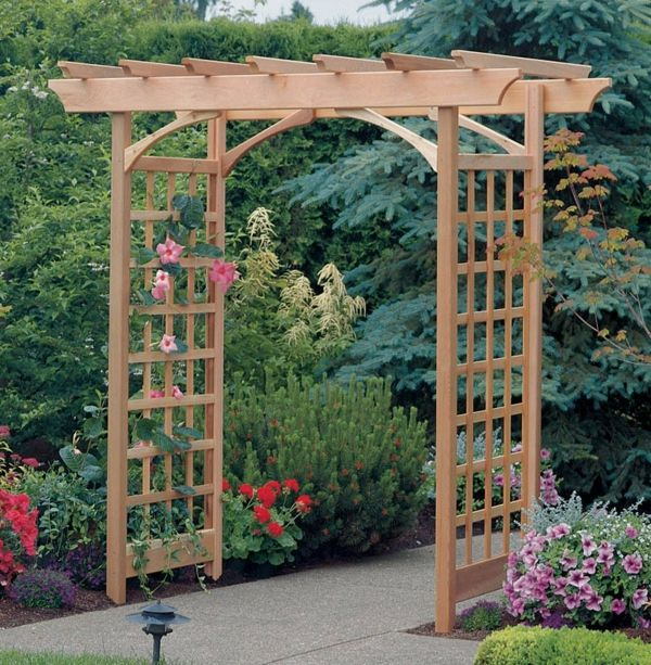 Best 25 treillis bois ideas only on pinterest treillis en bois treillage bois and design patio - Pergola bambou jardin ...