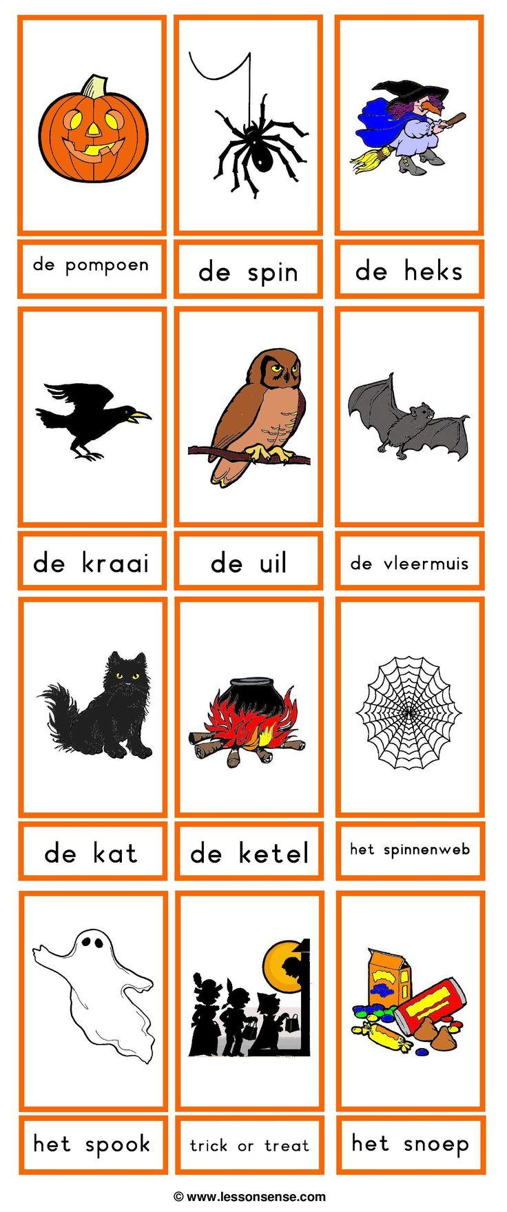 Halloween - woordkaarten