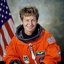 Peggy Annette Whitson (born February 9, 1960) is an American biochemistry researcher, NASA astronaut, and former NASA Chief Astronaut. Her first space mission was in 2002, with an extended stay aboard the International Space Station as a member of Expedition 5. Her second mission launched October 10, 2007, as the first female commander of the ISS with Expedition 16.