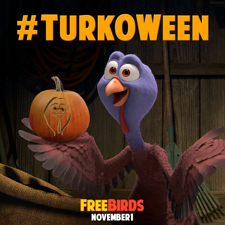 This Halloween, decorate your pumpkins Free Birds style with these special stencils!  Then share your pics on Facebook, Twitter, and Instagram using #TurkOWeen for a chance to win an iPad mini!