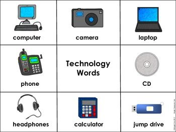 Technology Vocabulary Word Wall Words $