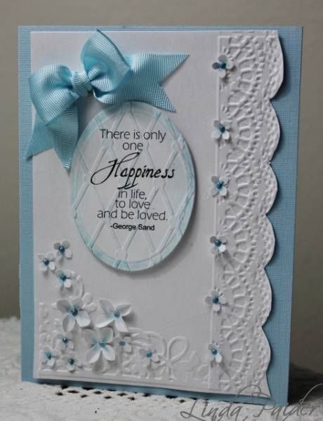 763 best cards embossed layered punched images on pinterest happiness quote card by linda holstein cards and paper crafts at splitcoaststampers m4hsunfo