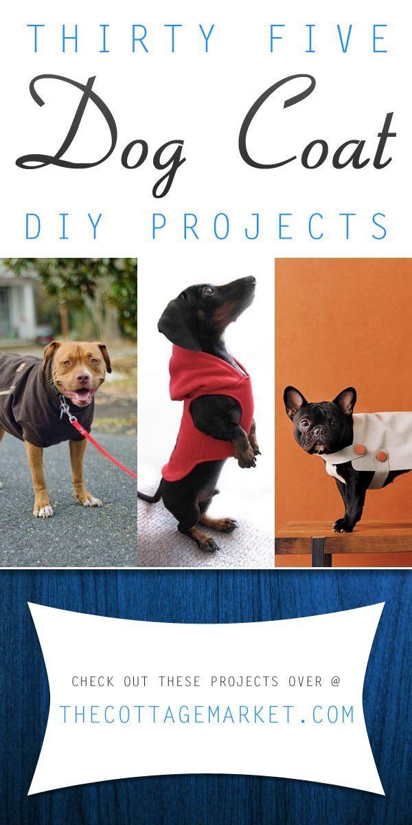 35 DIY Dog Coats #DogCoats, #DogCoatDIYProjects, #DogCoatIdeas