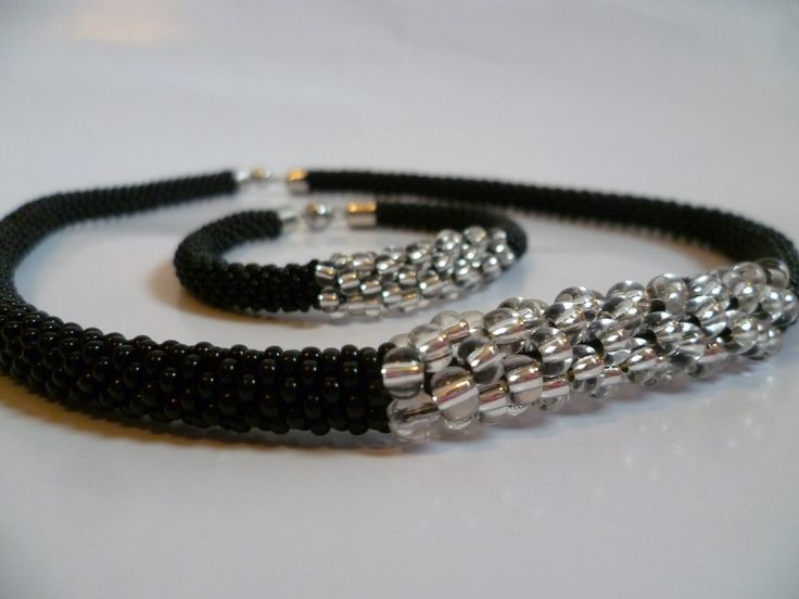 Bead crochet jewellery
