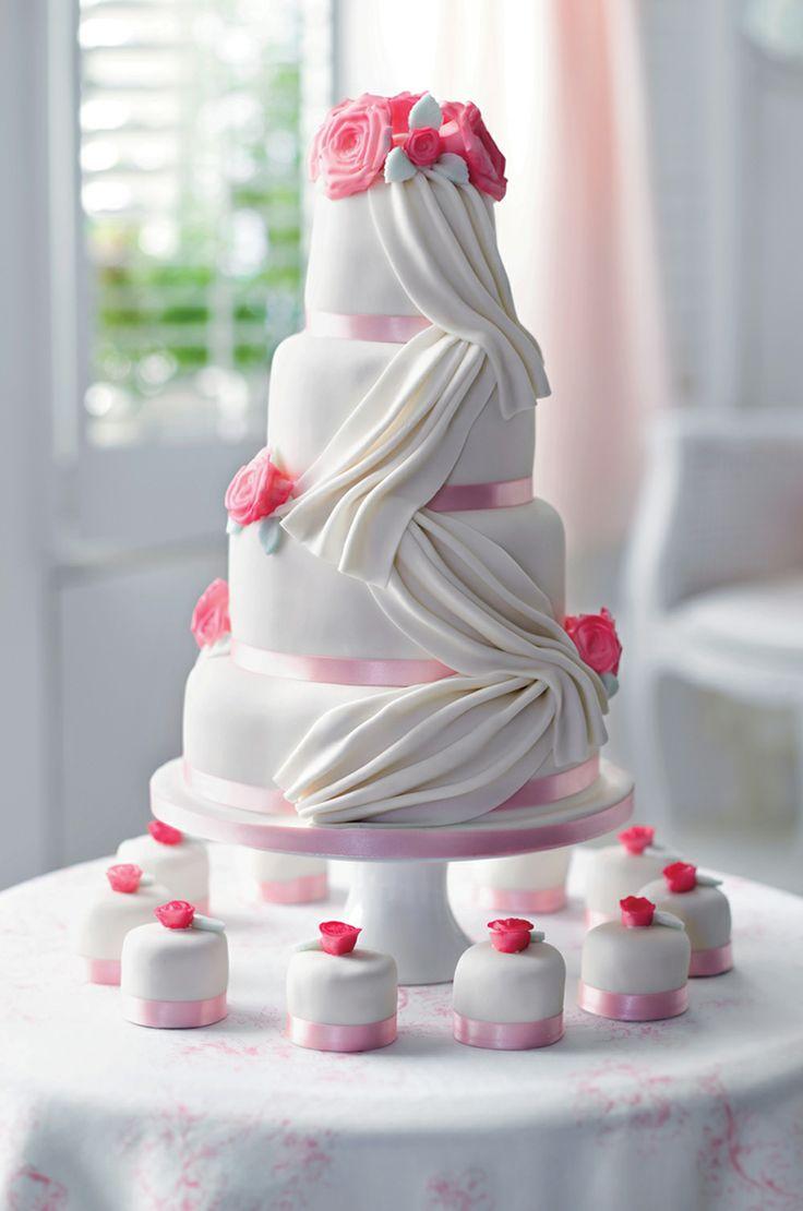 Marks And Spencers Vintage Rose Wedding Cake