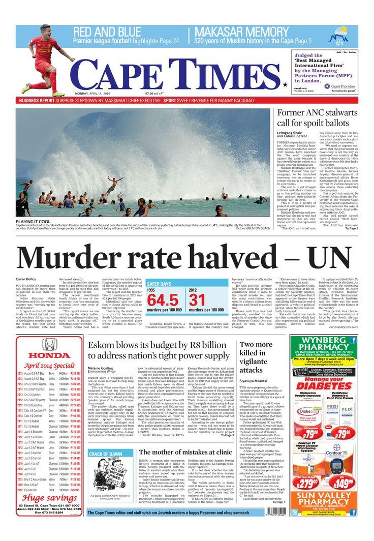 News making headlines: Murder rate halved - UN