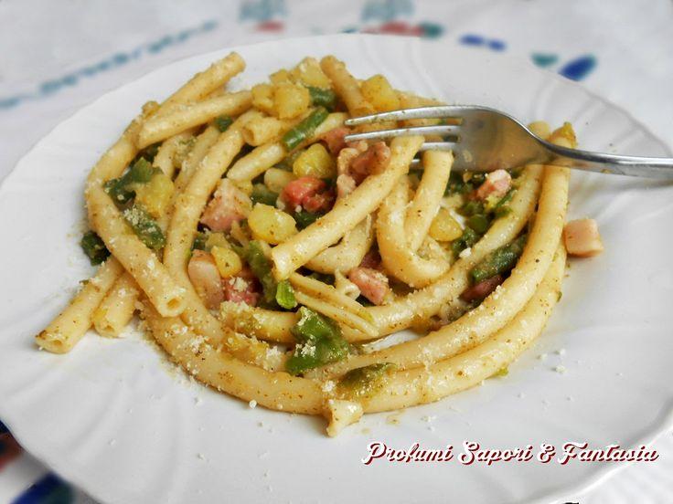 Pasta con pancetta fagiolini e patate Blog Profumi Sapori & Fantasia