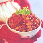 Chili con carne met kidneybonen en witte bonen