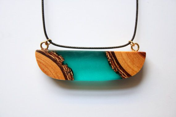 Modern large and wide pendant from Australian wood and by BoldB, $59.00