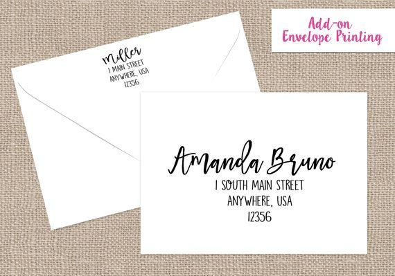 PRINTING SERVICES ENVELOPE Printing Service by JujuandBeanPrints