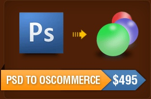PSD to OSCommerce Skin and Theme