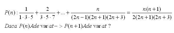 formule online probleme si exercitii rezolvate: Inductie matematica exercitiu rezolvat 13