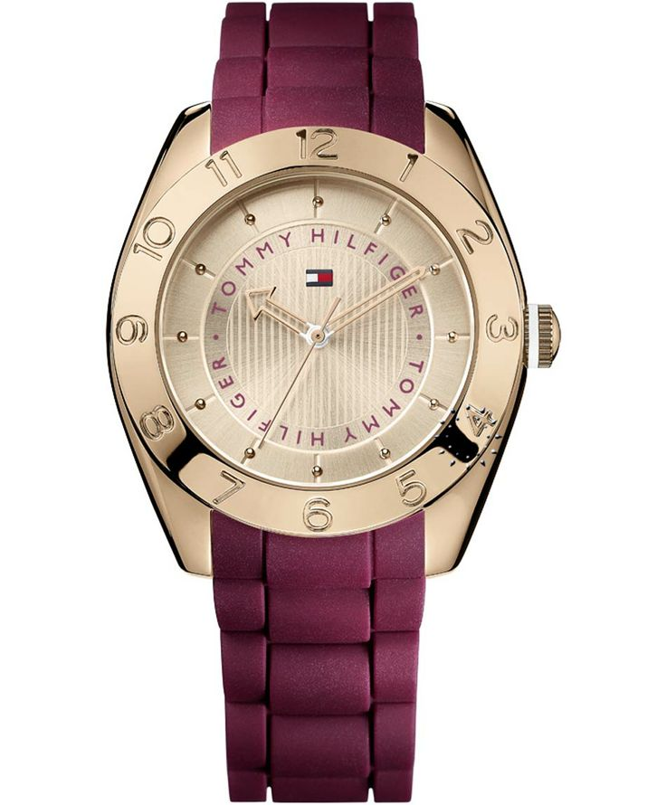 TOMMY HILFIGER Jourdan Rose Gold Bordeuax Rubber Strap Η τιμή μας: 114€ http://www.oroloi.gr/product_info.php?products_id=38215