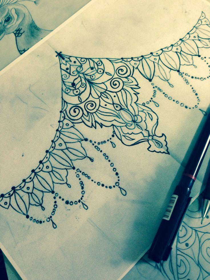 Henna Tattoo Designs Under Breast: Mandala Design For Under The Breast Area :) #tattoo
