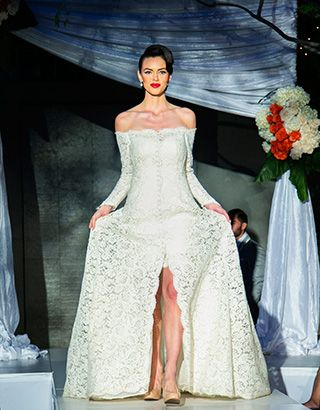 Classic Girl on the runway at the Luxe Bridal Show with Renee Strauss wearing a Sareh Nouri Gown.