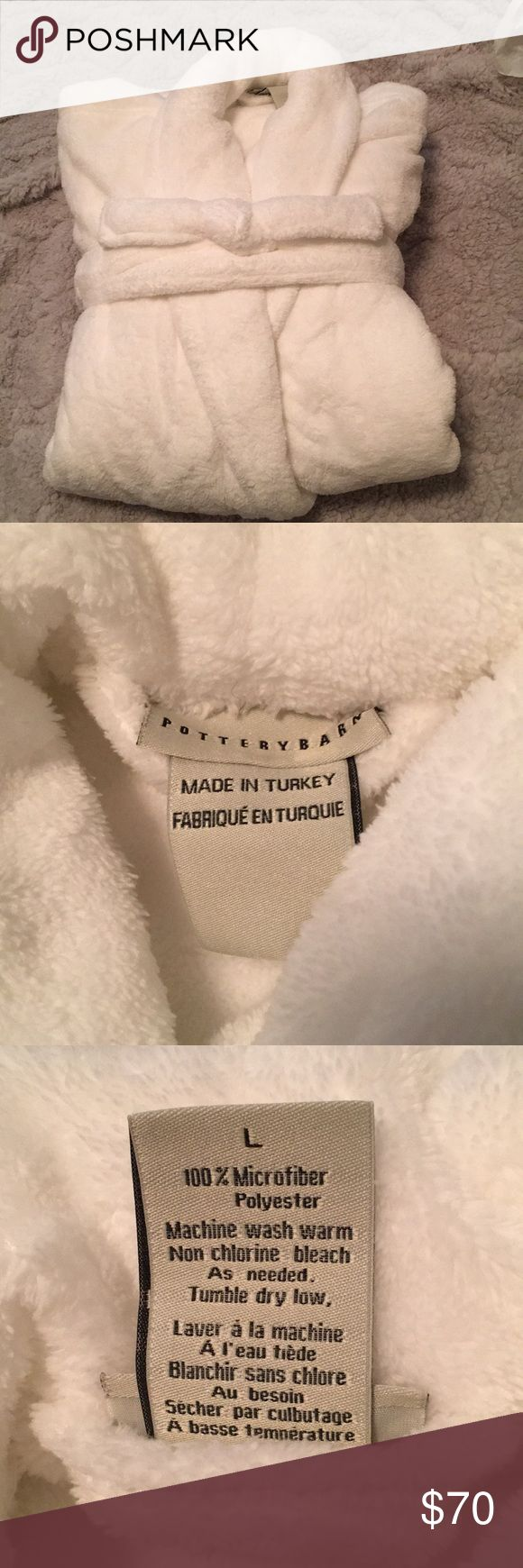 Pottery Barn robe Brand new and unused. Have two available. Size large. 100% microfiber plush robes. No trades. Bundle for discount. Please use offer feature. Pottery Barn Intimates & Sleepwear Robes