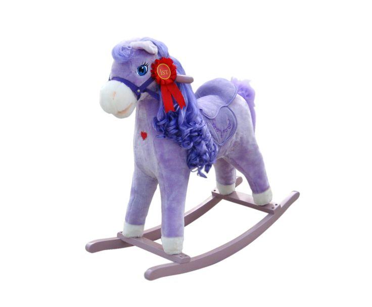 El modelo caballo balancín mecedor Princess es único. Es el caballo balancín con el que sueñan los mas peques. Además de la función tradicional de relincho, tiene de serie mas opciones atractivas para enriquecer y darle vida a la diversión. Tiene mecedoras de madera y mangos de madera. Fabricado en madera y felpa suave.