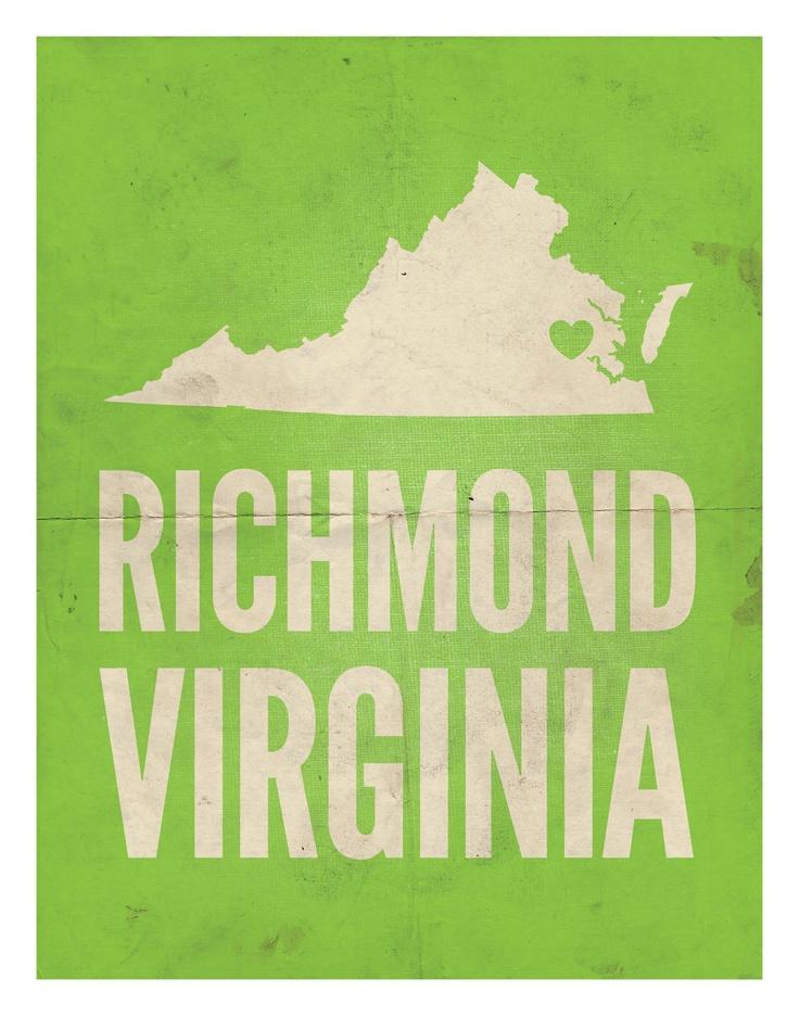 "Richmond, Virginia Love Print, 11"" x 14"""