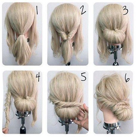 Haarhochsteckfrisuren für lange Haare einfach