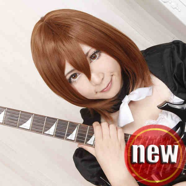 OHCOS K-ON Hirasawa Юи/Suzumiya Haruhi Бобо Стиль 14 дюймов Короткие Каштановые Волосы Косплей Парики