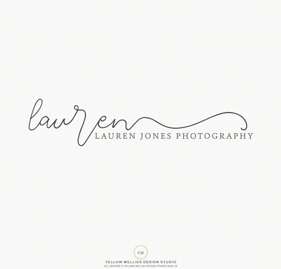 Premade Logo - Simple Script Logo - Boutique Logo - Small Business Logo - Photography Logo - Calligraphy - Watermark - Logo Design