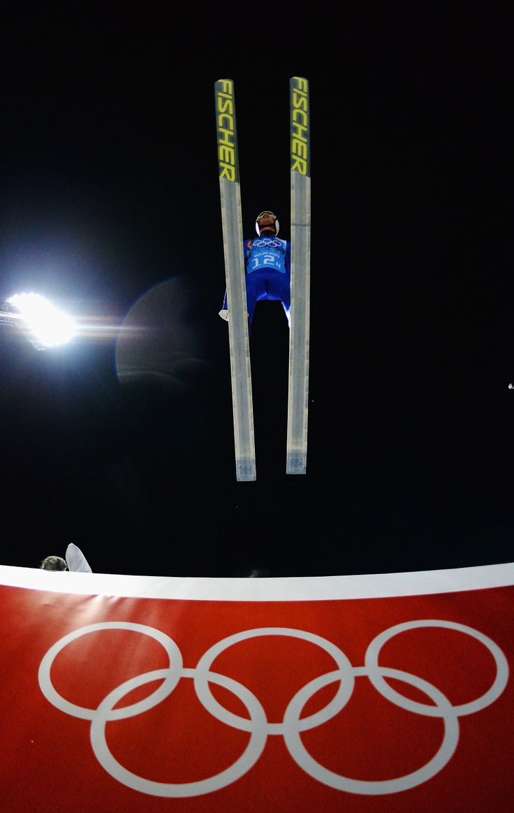 Gregor Schlierenzauer of Austria jumps during the Men's Team Ski Jumping trial (c) Getty Images