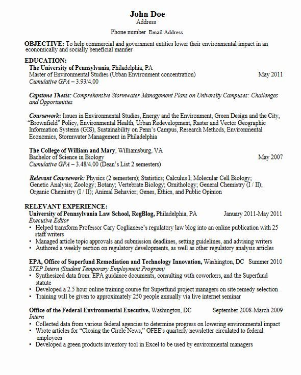 Resume For Graduate School Template Fresh Career Services Sample Resumes For Gra Career F Resume For Graduate School Student Resume Student Resume Template