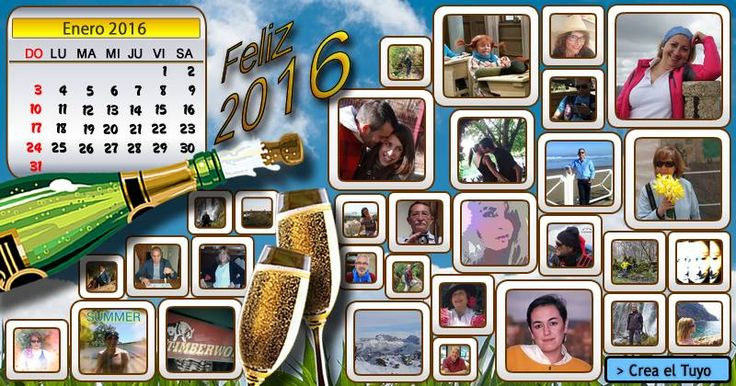 Calendario enero 2016 con 30 amigos! Crea el Tuyo!