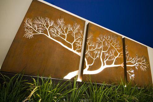The Fifth Room Garden Screens Corten Steel Garden
