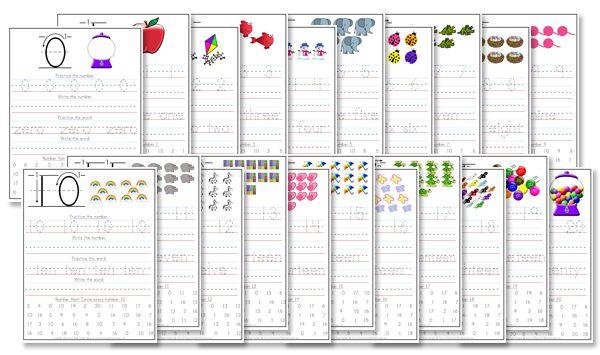 Kindergarten Number Writing Worksheets