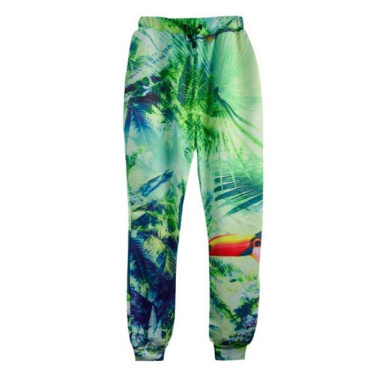 Люди / женская осень свободного покроя одежда с бегун штаны 3d harajuku печать цветочные цветы / деревья джунгли штаны спортивные костюмы